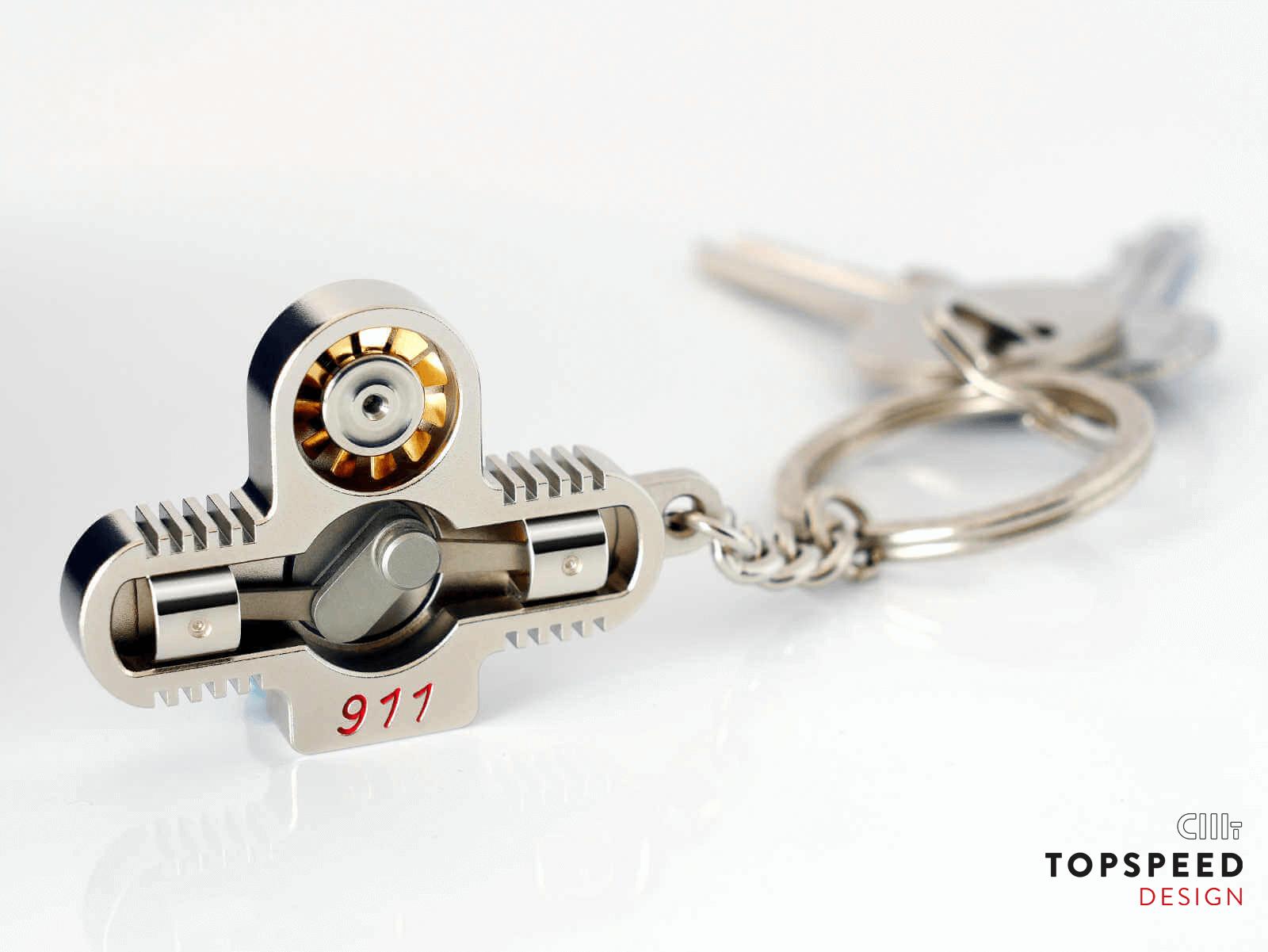 Porsche 911 Schlüsselanhänger | Topspeed Design by Bernhard Schmidt