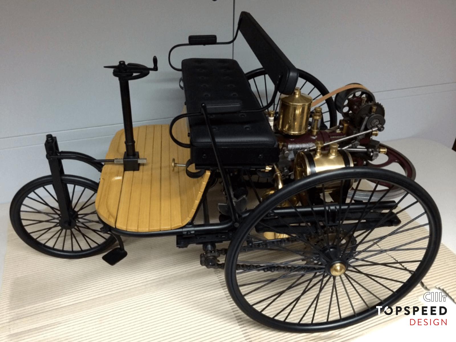 Acholzhauser Benz Patentmotorwagen Restauration nach Museumsbrand | Topspeed Design by Bernhard Schmidt