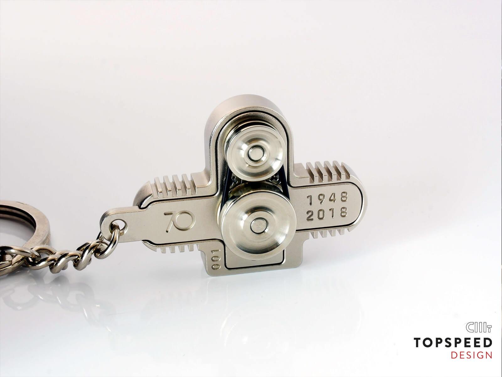 Schlüsselanhänger mit Wunschgravur | Topspeed Design by Bernhard Schmidt