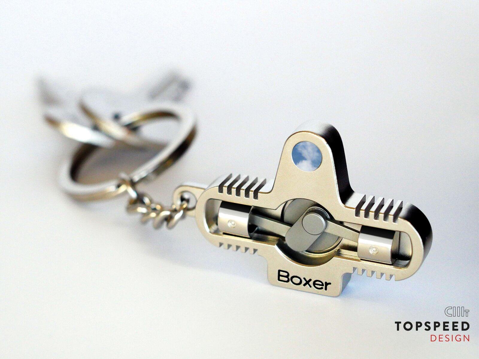 Schlüsselanhänger für Boxer – Biker | Topspeed Design by Bernhard Schmidt