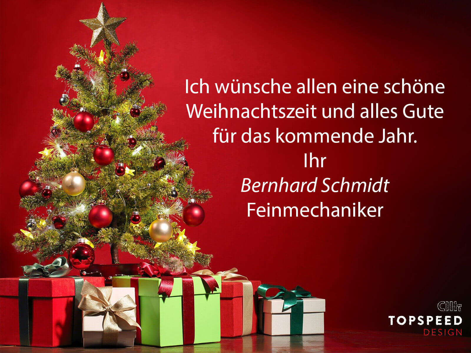 Weihnachtsgrüße | Topspeed-Design by Bernhard Schmidt
